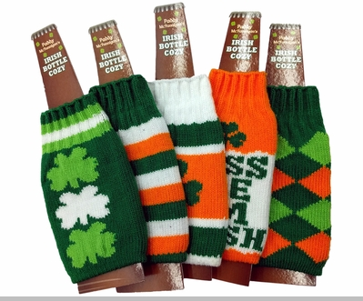 Irish St. Patrick's Day Bottle Cozy (Assorted)<!-- Click to Enlarge-->