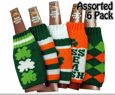 Irish St. Patrick's Day Bottle Cozy (Assorted 6 Pack)<!-- Click to Enlarge-->