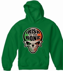 Irish To The Bone St Patrick's Day Adult Hooded Sweatshirt