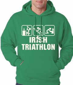 Irish Triathlon Funny St. Patrick's Day Adult Hoodie