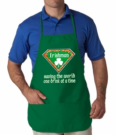 Irishman Saving The World One Drink At a Time Apron
