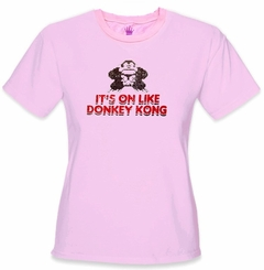 It's On Like Donkey Kong Girls T-Shirt :: Vintage Gamer Chick Tee