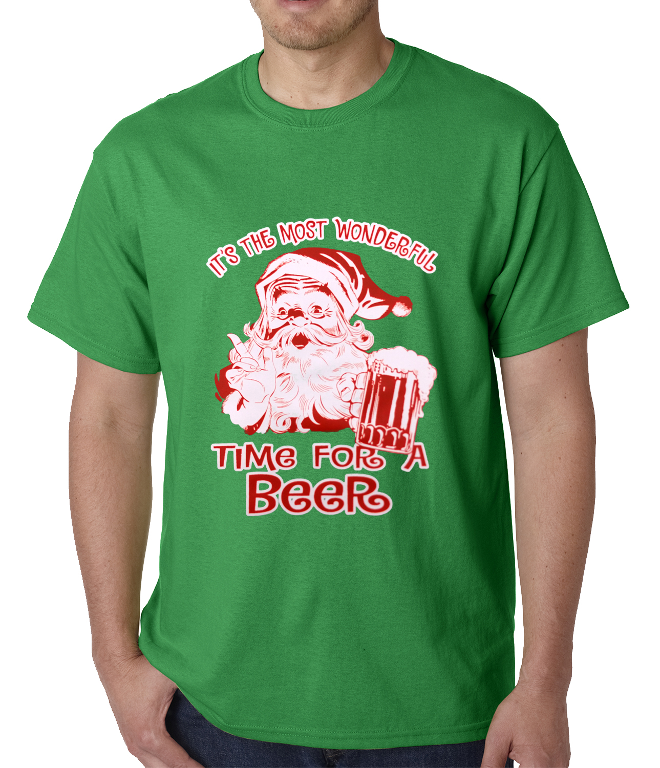 It's The Most Wonderful Time for a Beer Funny Christmas Mens T-shirt