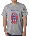 It's Who I Am Confederate Flag Thumb Print Mens T-shirt