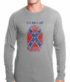 It's Who I Am Confederate Flag Thumb Print Thermal Shirt