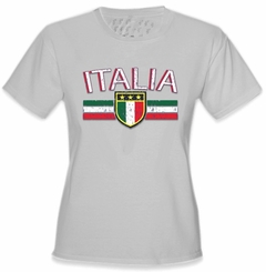 Italia Vintage Shield International Girls T-Shirt