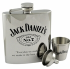 Jack Daniels 7oz Stainless Steel Flask with Funnel and Shot Glasses