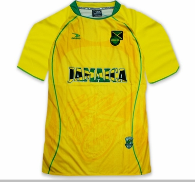 Jamaica PRO Soccer Jersey :: PRO Futball Jersey (Yellow & Green)<!-- Click to Enlarge-->