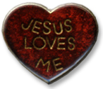 Jesus Loves Me Heart Lapel Pin