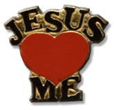 Jesus Loves Me Lapel Pin