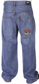 JNCO Jeans - JNCO Half Pipes Jeans (Stone Wash)