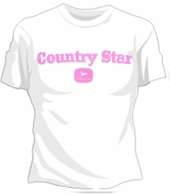 John Deere Country Star Girls T-Shirt (White)