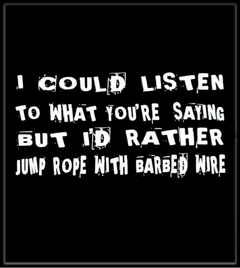 Jump Rope With Barbed Wire T-Shirt