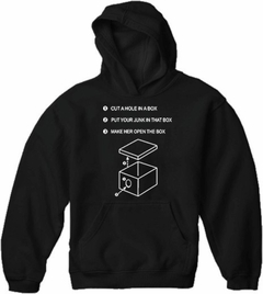 "Justin  ""Hole In A Box"" Adult Hoodie"