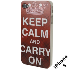 Keep Calm And Carry On iphone Case (iphone 5 Red)