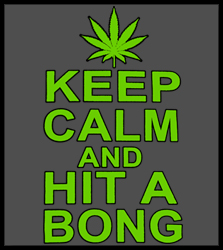 Keep Calm and Hit a Bong Men's T-Shirt