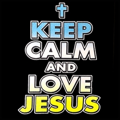 Keep Calm And Love Jesus Men's T-Shirt