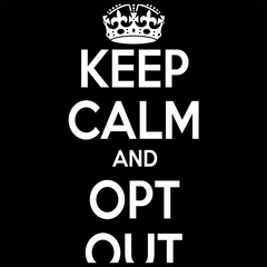 Keep Calm and Opt Out of Common Core Mens T-shirt
