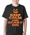 Keep Calm and Scary On Funny Halloween Kids T-shirt