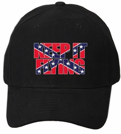 Keep It Flying (flag inside words) Rebel Confederate Flag Hat