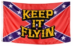 Keep It Flying Rebel Confederate Flag (3x5 Foot)