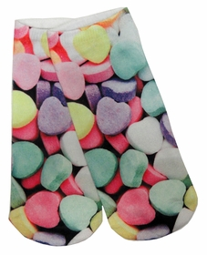 Kids & Adults Photo Print Ankle Socks - Heart Candy