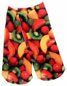Kids & Adults Photo Print Ankle Socks - Mixed Fruit