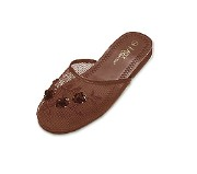 Kids Mesh Chinese Slippers (Brown)