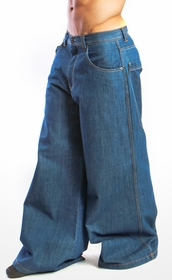 "Kikwear Jeans - Kikwear 32"" Bottom Super Deluxe Wide Leg Pant (Blue Denim)"