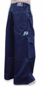 "Kikwear Jeans - Kikwear 32"" Bottom Wide Leg Pants (Blue Denim)"