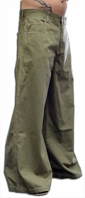 Kikwear 32'' Twill Old Skool Pants (Olive)
