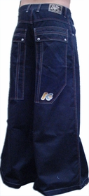 "Kikwear Jeans - Kikwear 42"" Severe New Skool Cotton  Pants (Dark Blue)"