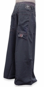 "Kikwear Jeans - Kikwear Super Soft 42"" Wide Leg Pants (Charcoal)"