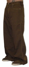 Kikwear Jeans - Kikwear Unisex 28'' Bottom Pants (Brown)