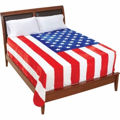 "King / Queen Size Plush Thick American Flag Blanket (79"" x 91"")"