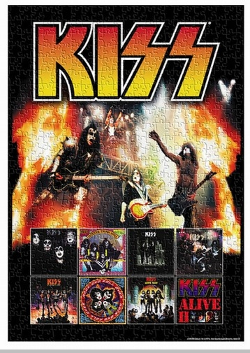 KISS 500 Piece Jigsaw Puzzle<!-- Click to Enlarge-->