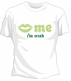 Kiss Me I'm Irish Girls T-Shirt