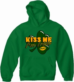 Kiss Me I'm Irish Shamrock Adult Hoodie