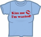 Kiss Me I'm Wasted Girls T-Shirt