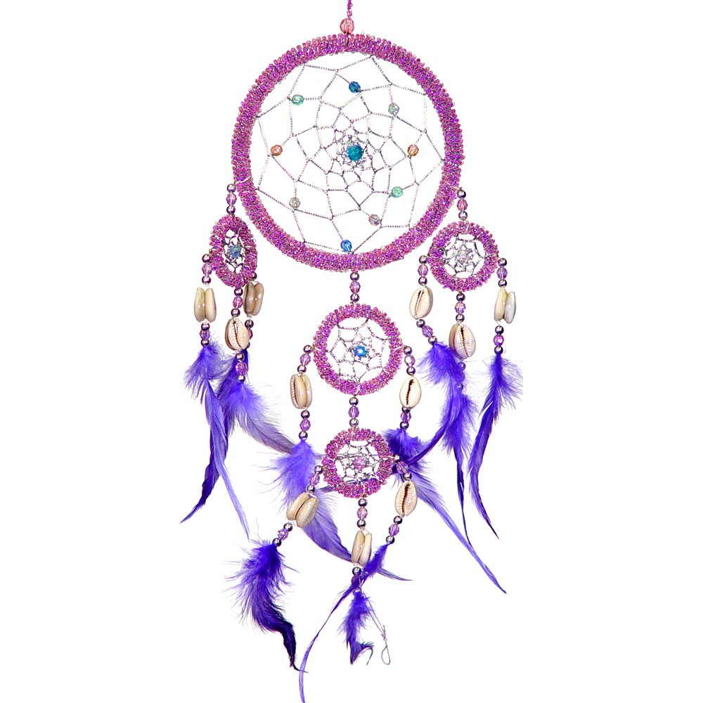Pictures Of Dream Catchers: Large Purple Beaded Dream Catcher