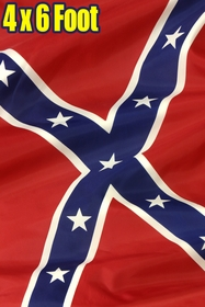Large Size Confederate Rebel Flag 4 x 6 Ft