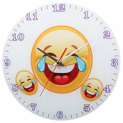 Laughing Emoji Analog Wall Clock