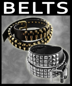 Leather Studded Belts
