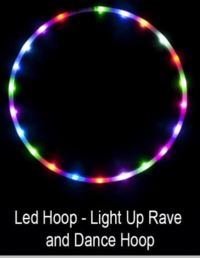 Led Hula Hoop - Light Up Rave and Dance Hula Hoop with 36 Led Lights<!-- Click to Enlarge-->