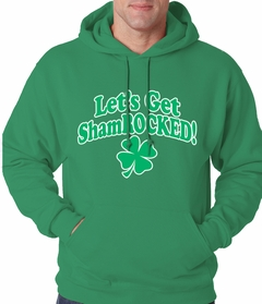 Let's Get ShamROCKED Funny Irish Adult Hoodie
