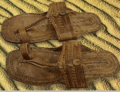 Light Tan Unisex Water Buffalo Hippie Jesus Sandals<!-- Click to Enlarge-->