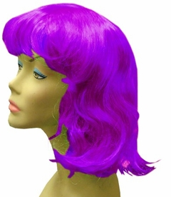 Long Hair Costume Wig (Purple)