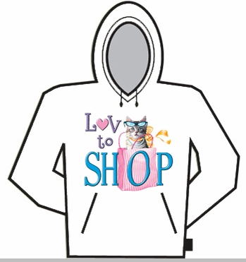 Love To Shop Hoodie<!-- Click to Enlarge-->