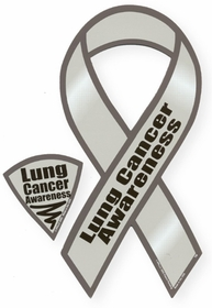 Lung Cancer Awareness Ribbon Magnet