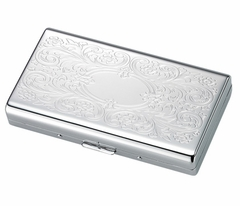 Luxury High Gloss Paisley Engravable Cigarette Case (For Regular Sized & 100s)